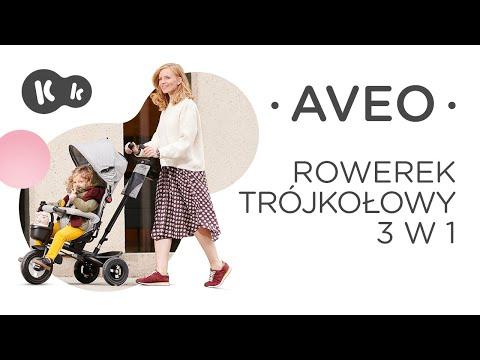 Tricicleta Aveo Kinderkraft Pink 3 in 1 1