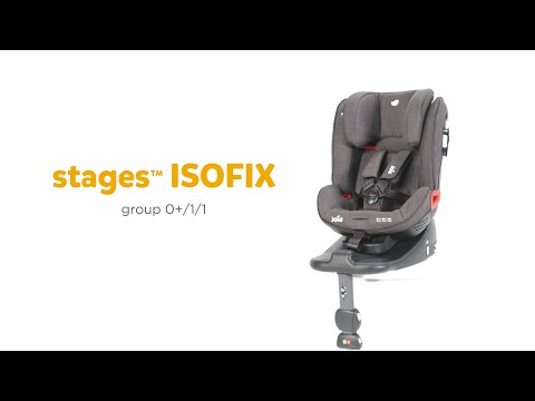 Pachet Joie Stages isofix si scoica Joie i-Snug Gray Flannel 5