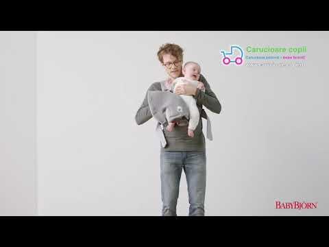 Marsupiu anatomic BabyBjorn Mini cu pozitii multiple de purtare - Anthracite 3D Mesh 20
