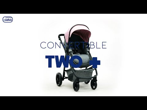 Carucior 3 in 1 Asalvo CONVERTIBLE TWO+ Pink 2