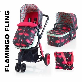 carucior 2 in 1 cosatto giggle flamingo fling limited edt