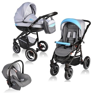 Carucior Crooner Vessanti 3 in 1 Blue - Gray