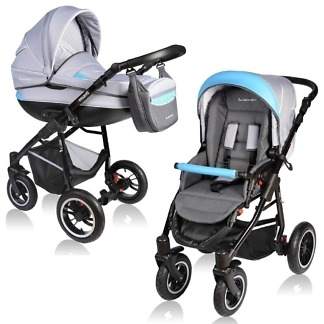 Carucior Crooner Vessanti 2 in 1 Blue - Gray