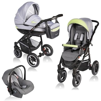 Carucior Crooner Vessanti 3 in 1 Green - Gray