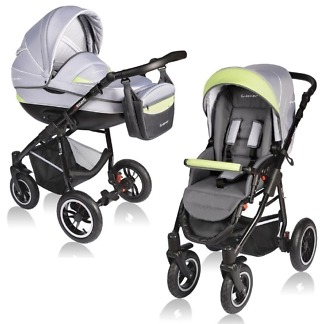 Carucior Crooner Vessanti 2 in 1 Green - Gray