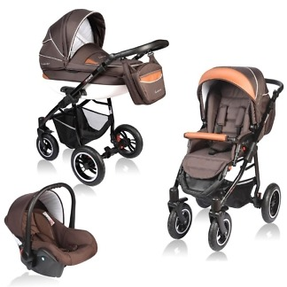 Carucior Crooner Vessanti 3 in 1 Brown