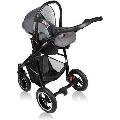 Carucior Crooner Vessanti 3 in 1 Pink - Gray 1