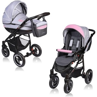 Carucior Crooner Vessanti 2 in 1 Pink - Gray