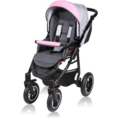 Carucior Crooner Vessanti 2 in 1 Pink - Gray 1