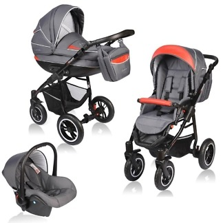 Carucior Crooner Vessanti 3 in 1 Red - Gray