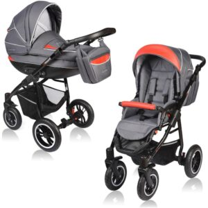 Carucior Crooner Vessanti 2 in 1 Red - Gray