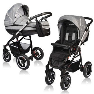 Carucior Crooner Prestige Vessanti 2 in 1 Gray