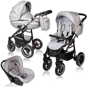 Carucior Crooner Prestige Vessanti 3 in 1 Light Gray
