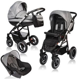 Carucior Crooner Prestige Vessanti 3 in 1 Gray