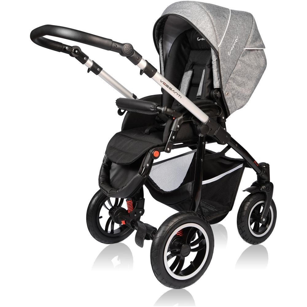 Carucior Crooner Prestige Vessanti 3 in 1 Gray 7