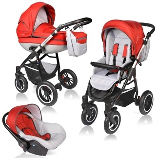 Carucior Crooner Prestige Vessanti 3 in 1 Red