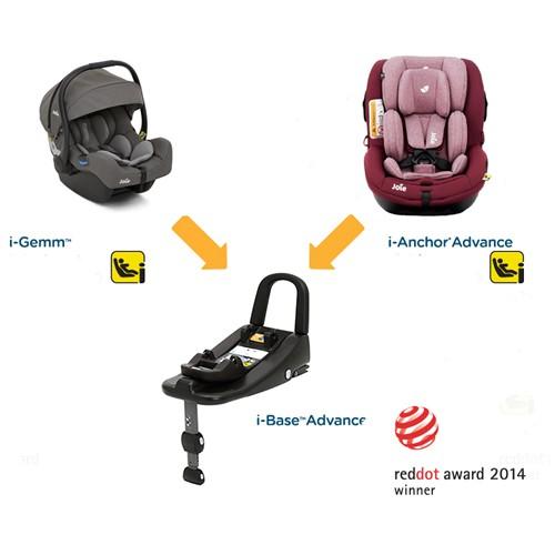 Joie - Scaun auto isofix i-Anchor Advance i-SIZE cu scoica i-Gemm si Baza I-size