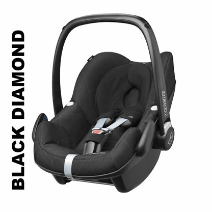 Pachet Cos auto Maxi-Cosi Pebble Plus I-Size si Baza 2wayFix Black Diamond