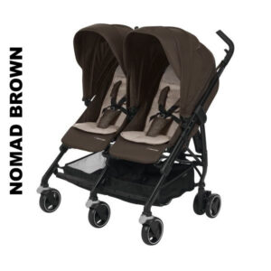 Carucior gemeni Maxi-Cosi Dana for 2 Nomad Brown