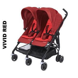 Carucior gemeni Maxi-Cosi Dana for 2 Vivid Red