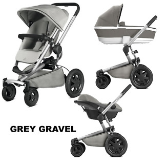 Pachet carucior Buzz Xtra Quinny 3 in 1 Grey Gravel