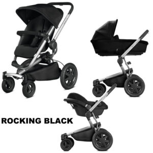 Pachet carucior Buzz Xtra Quinny 3 in 1 Rocking Black