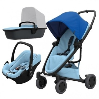 Pachet carucior Quinny Zapp Flex Plus 3 in 1 Blue on Sky