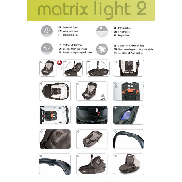 Carucior 3 in 1 Jane Trider Reverse Matrix Light 19