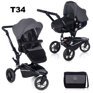 Carucior 3 in 1 Jane Trider Reverse Matrix Light T34