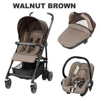 Carucior Trio Maia Bebe Confort walnut brown