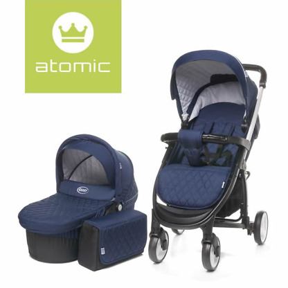 carucior 2 in 1 4baby atomic navy blue