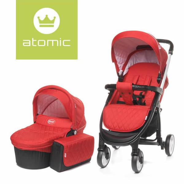 carucior 2 in 1 4baby atomic red