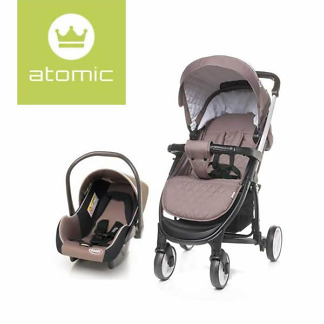 Carucior 2 in 1 4Baby ATOMIC Travel System Brown
