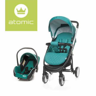 Carucior 2 in 1 4Baby ATOMIC Travel System Dark Turquoise