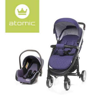 Carucior 2 in 1 4Baby ATOMIC Travel System Purple