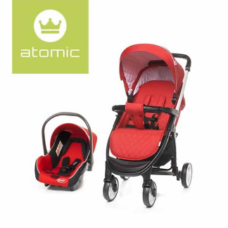 Carucior 2 in 1 4Baby ATOMIC Travel System Red