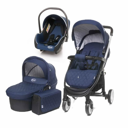 carucior 3 in 1 4baby atomic navy blue