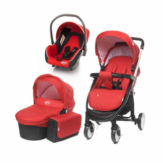 carucior 3 in 1 4baby atomic red