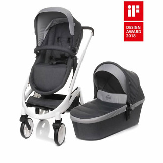carucior 4baby cosmo 2 in 1 dark grey