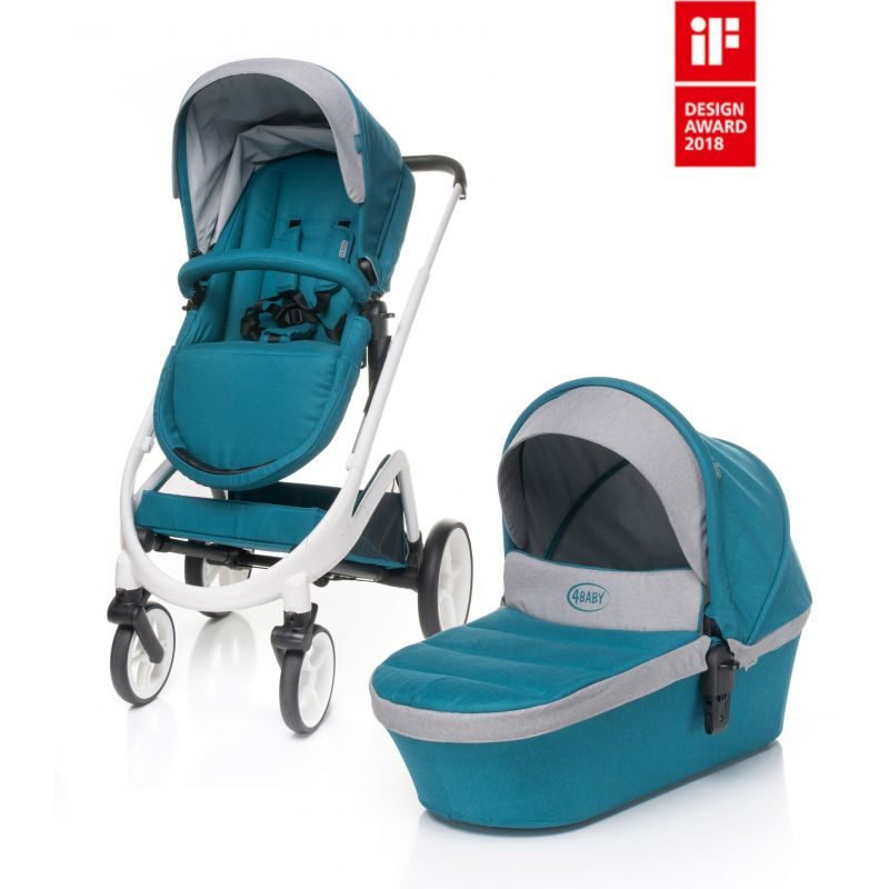 Carucior 4Baby COSMO 2 in 1 Dark Turquoise 1