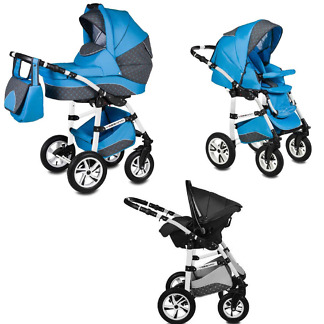 Carucior Flamingo Easy Drive Vessanti 3 in 1 Blue