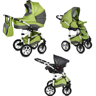 Carucior Flamingo Easy Drive Vessanti 3 in 1 Green