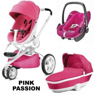 Pachet 3 in 1 carucior Quinny Moodd Pink Passion