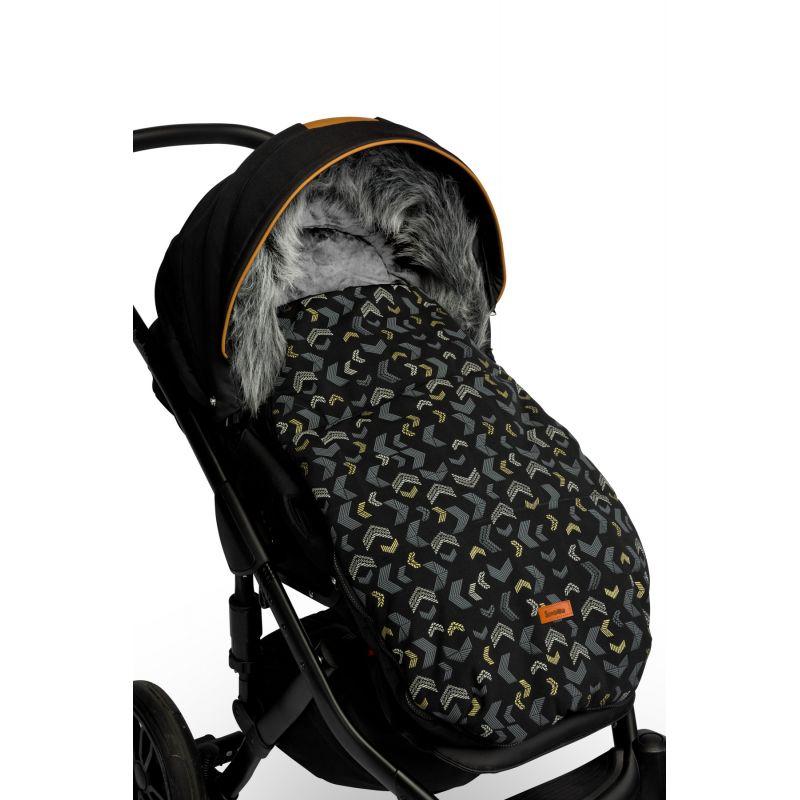 sac de iarna sensillo olaf fleece 100x45 cm black 2