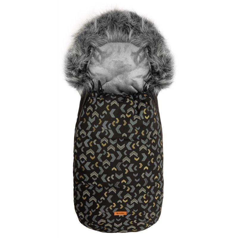 Sac de iarna Sensillo OLAF Fleece 100x45 cm Negru