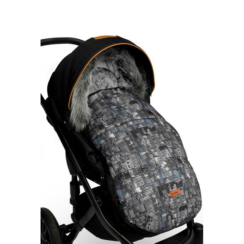 sac de iarna sensillo olaf fleece 100x45 cm graphite 2