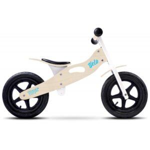 bicicleta de lemn cu roti gonflabile toyz velo natur 1
