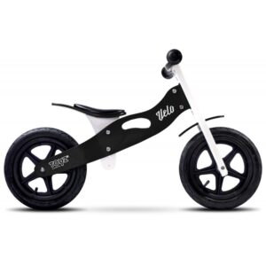 bicicleta de lemn cu roti gonflabile toyz velo negru 1