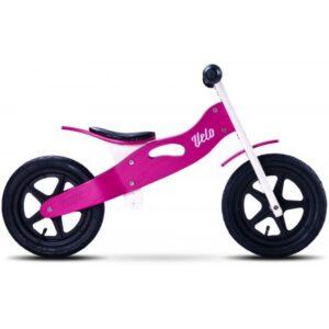 bicicleta de lemn cu roti gonflabile toyz velo roz 1