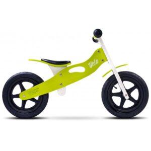 bicicleta de lemn cu roti gonflabile toyz velo verde 1